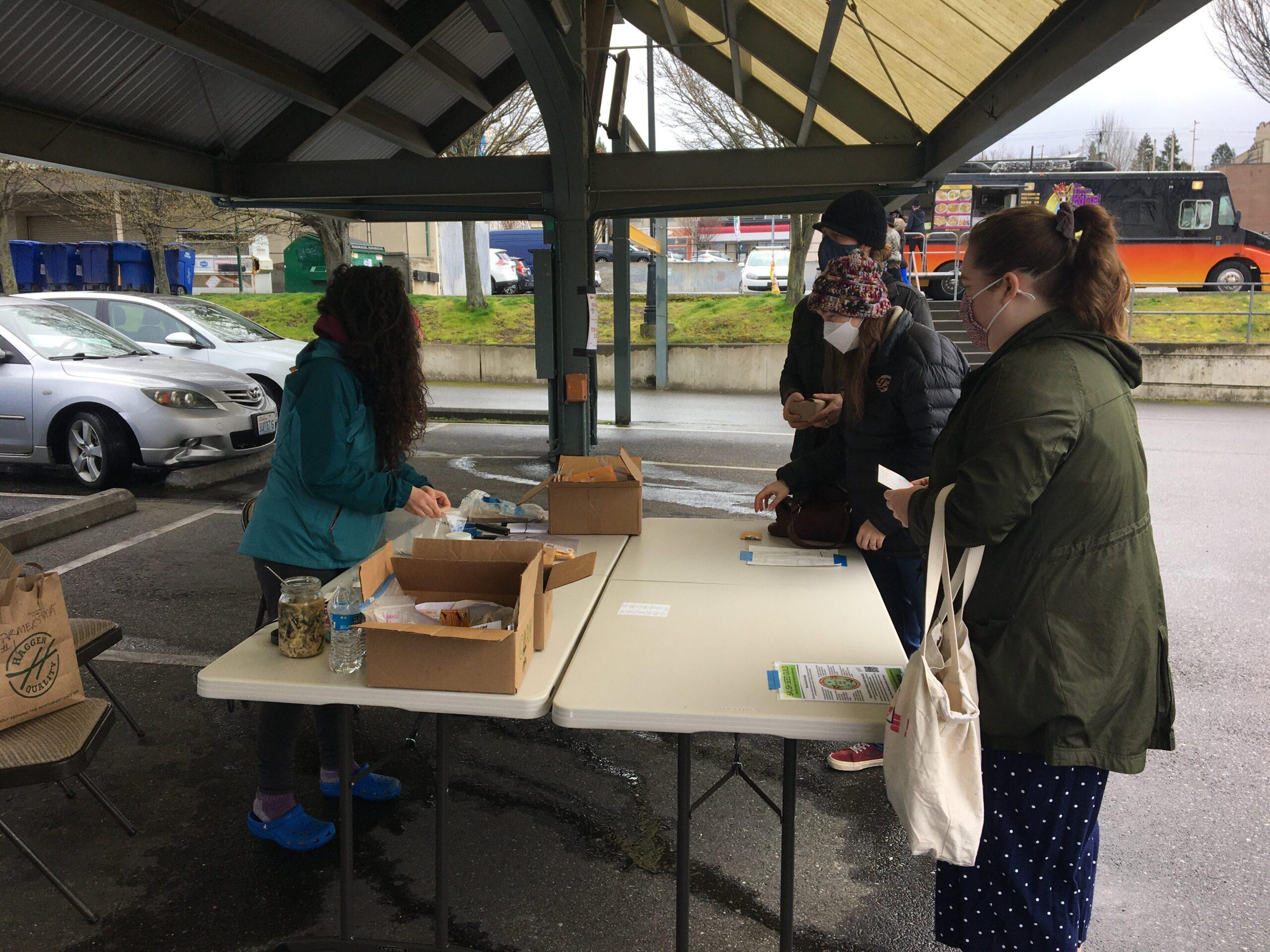 Seed Distribution at Bellingham Farmers Market